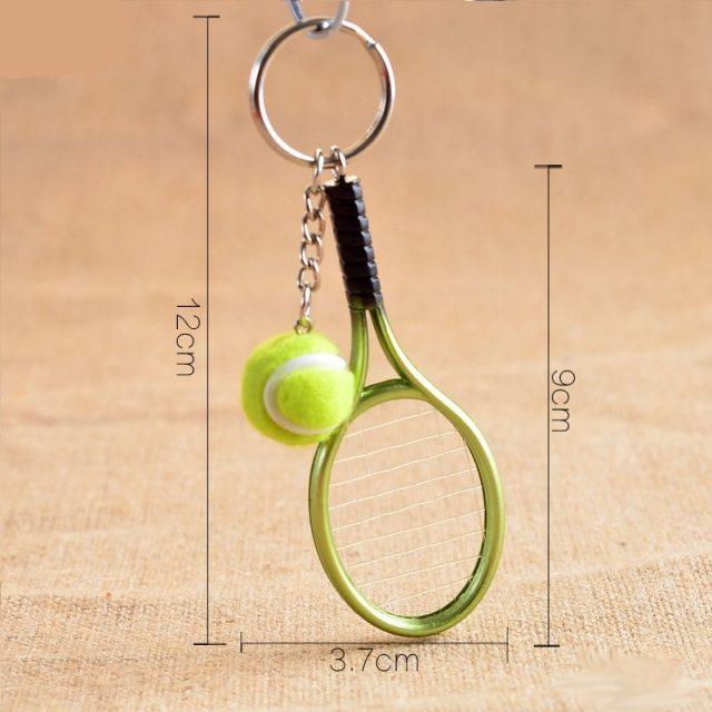Mini Tennis Racket Key Chain